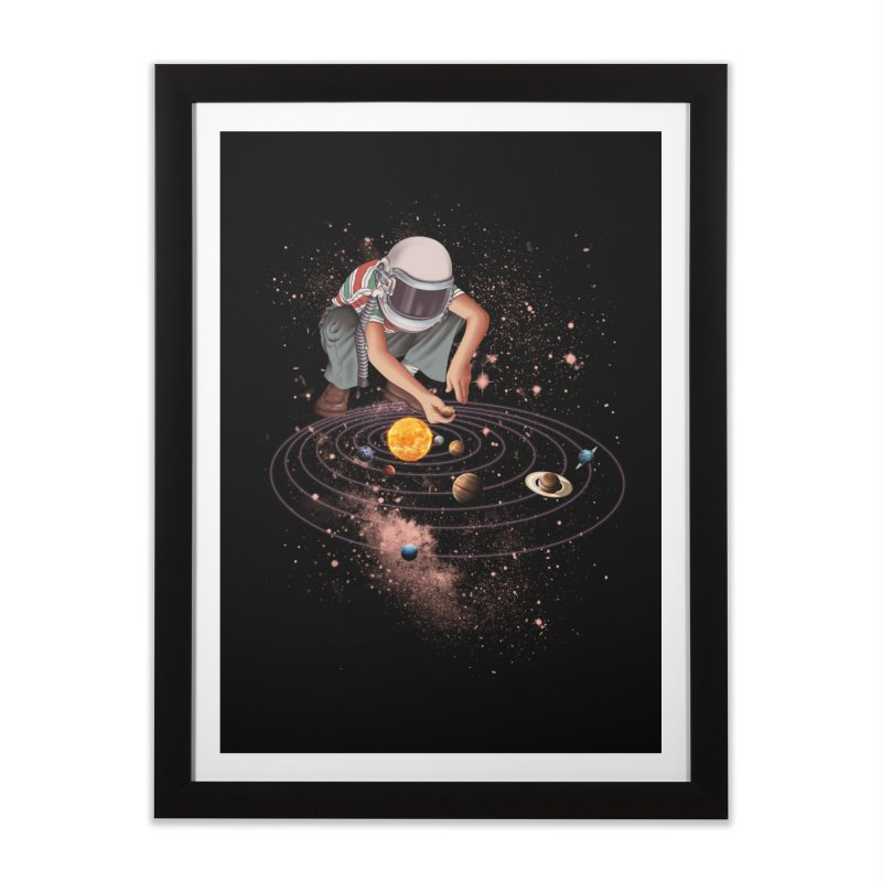 Marble Planet Home Framed Fine Art Print by kooky love's Artist Shop