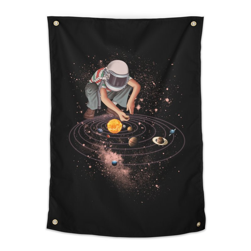Marble Planet Home Tapestry by kooky love's Artist Shop