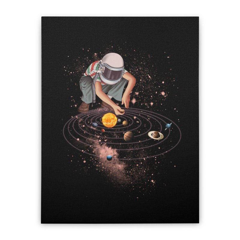 Marble Planet Home Stretched Canvas by kooky love's Artist Shop
