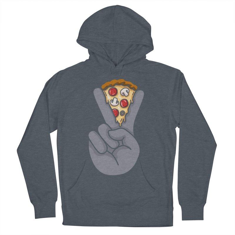 Peace & Pizza Men's Pullover Hoody by kooky love's Artist Shop