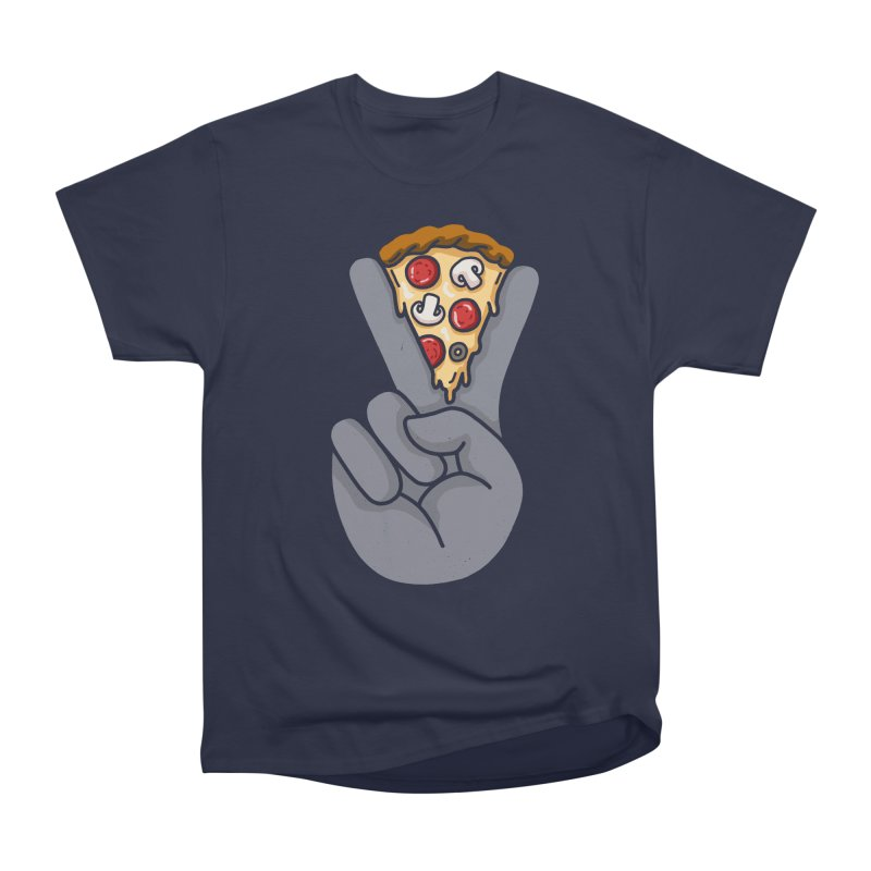 Peace & Pizza Women's Heavyweight Unisex T-Shirt by kooky love's Artist Shop