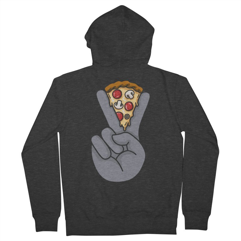Peace & Pizza Men's Zip-Up Hoody by kooky love's Artist Shop