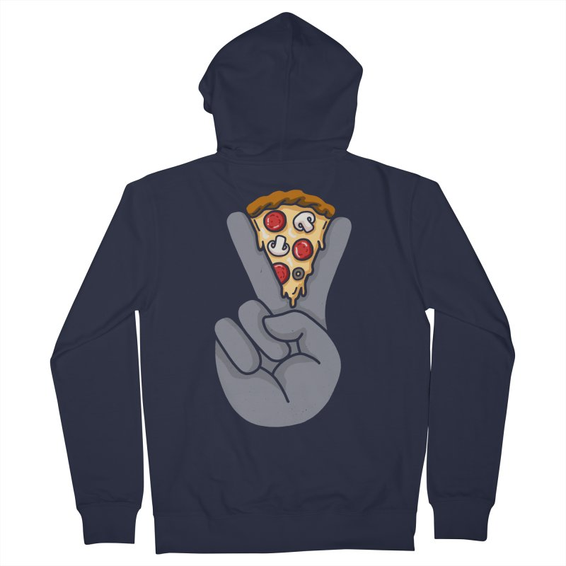 Peace & Pizza Men's French Terry Zip-Up Hoody by kooky love's Artist Shop
