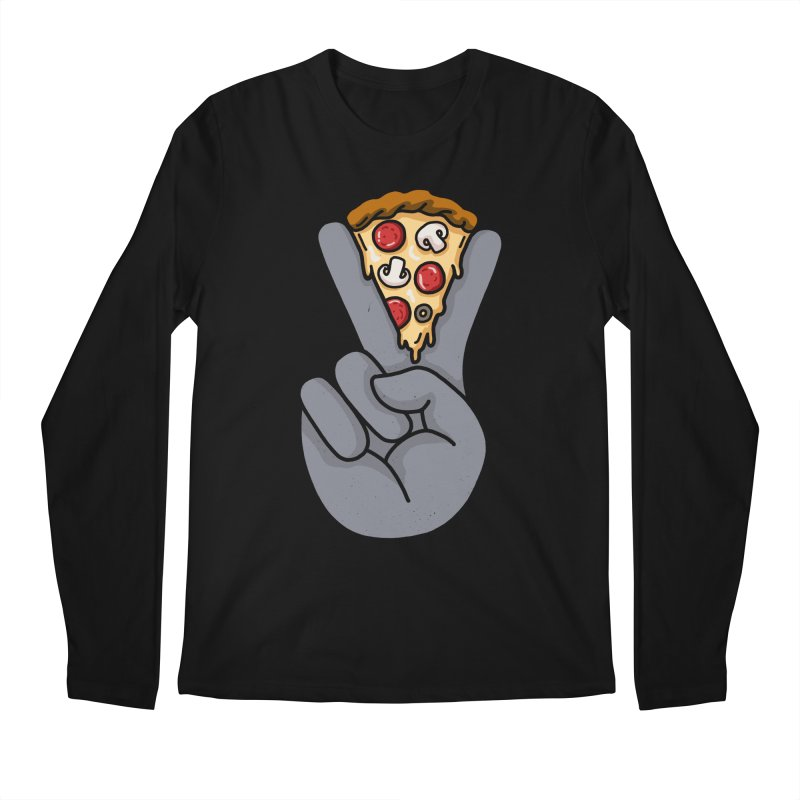 Peace & Pizza Men's Longsleeve T-Shirt by kooky love's Artist Shop