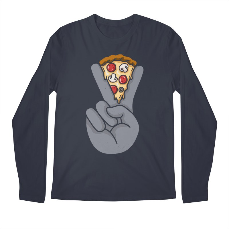 Peace & Pizza Men's Regular Longsleeve T-Shirt by kooky love's Artist Shop