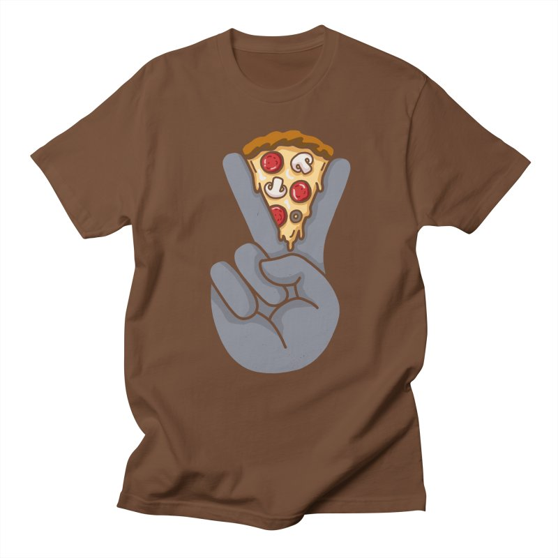 Peace & Pizza Men's T-Shirt by kooky love's Artist Shop