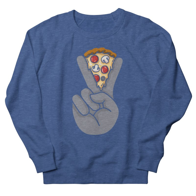 Peace & Pizza Women's French Terry Sweatshirt by kooky love's Artist Shop