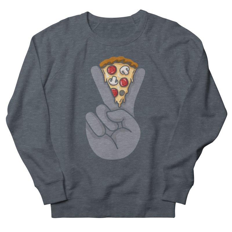 Peace & Pizza Men's French Terry Sweatshirt by kooky love's Artist Shop