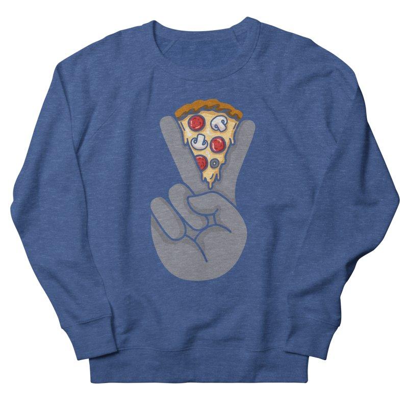 Peace & Pizza Men's Sweatshirt by kooky love's Artist Shop