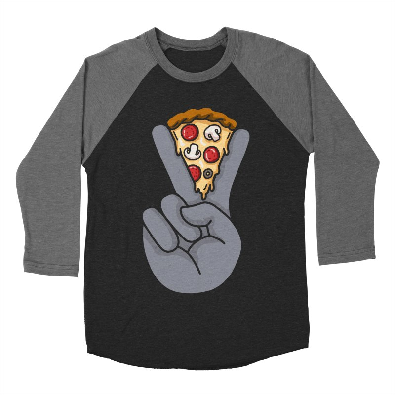 Peace & Pizza Women's Baseball Triblend Longsleeve T-Shirt by kooky love's Artist Shop