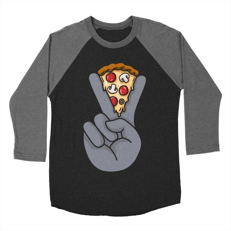 Peace & Pizza Men's Baseball Triblend Longsleeve T-Shirt by kooky love's Artist Shop