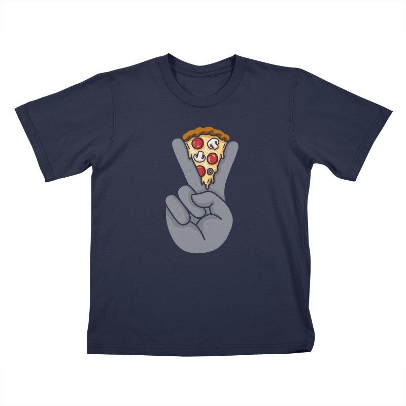 Peace & Pizza Kids Toddler T-Shirt by kooky love's Artist Shop