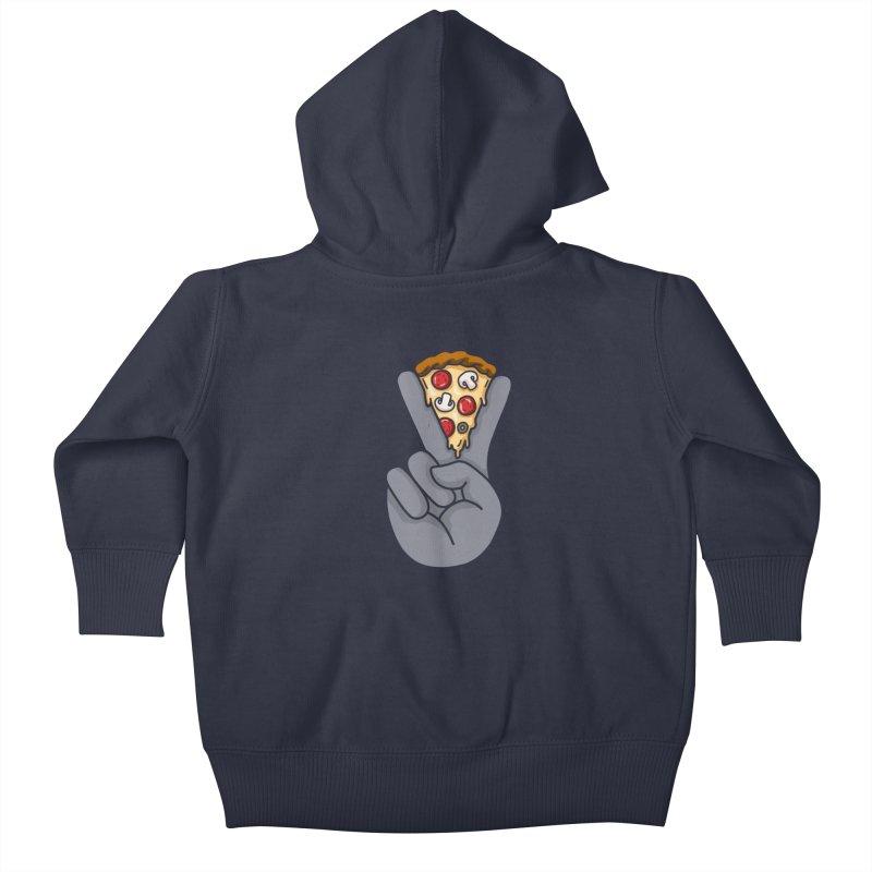 Peace & Pizza Kids Baby Zip-Up Hoody by kooky love's Artist Shop
