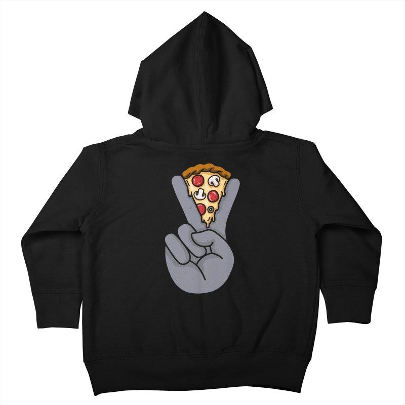 Peace & Pizza Kids Toddler Zip-Up Hoody by kooky love's Artist Shop