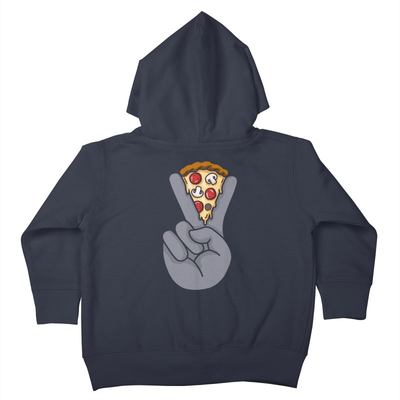 Peace & Pizza Kids Toddler Zip-Up Hoody by kooky love's Artist Shop