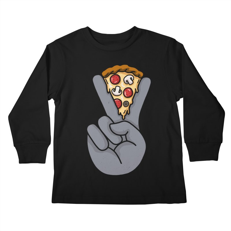 Peace & Pizza Kids Longsleeve T-Shirt by kooky love's Artist Shop
