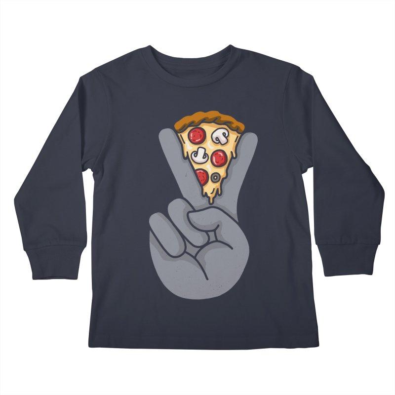 Peace & Pizza Kids Longsleeve T-Shirt by kooky love's Artist Shop