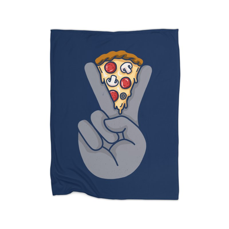 Peace & Pizza Home Blanket by kooky love's Artist Shop