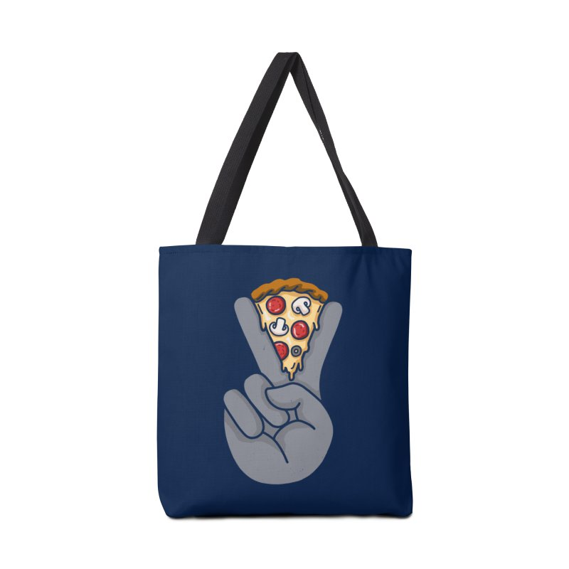Peace & Pizza Accessories Bag by kooky love's Artist Shop