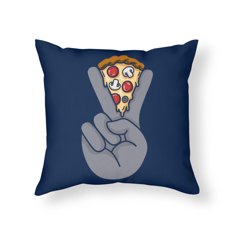Peace & Pizza Home Throw Pillow by kooky love's Artist Shop