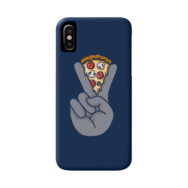 Peace & Pizza Accessories Phone Case by kooky love's Artist Shop
