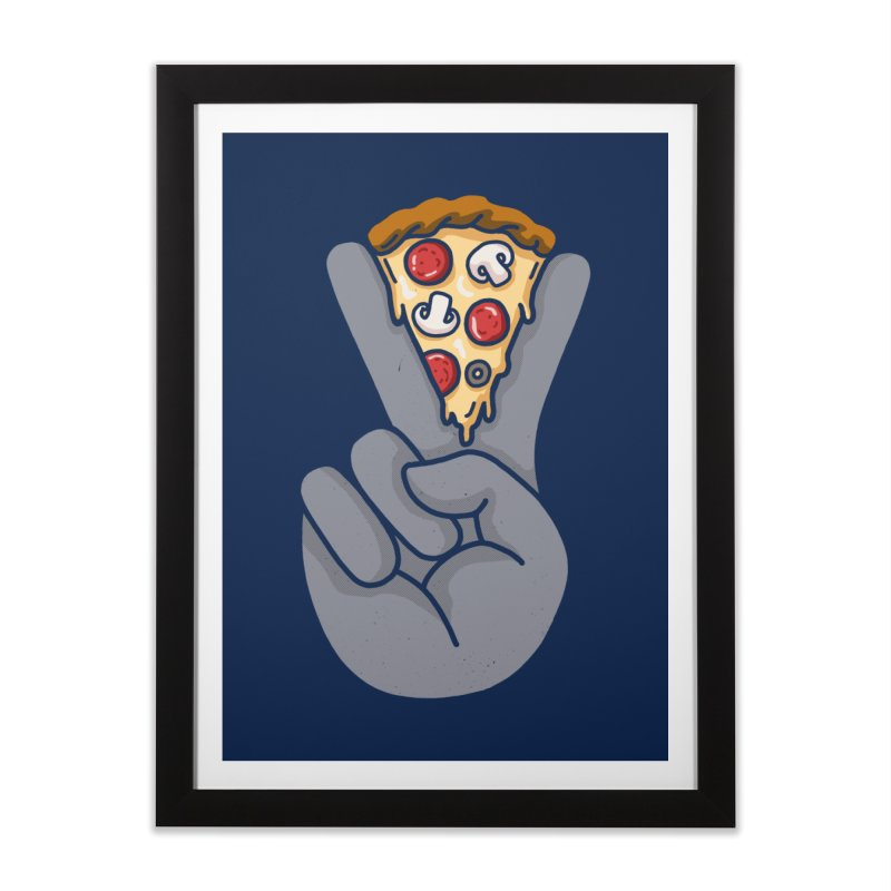 Peace & Pizza Home Framed Fine Art Print by kooky love's Artist Shop