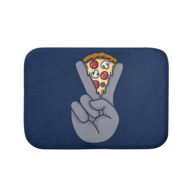 Peace & Pizza Home Bath Mat by kooky love's Artist Shop