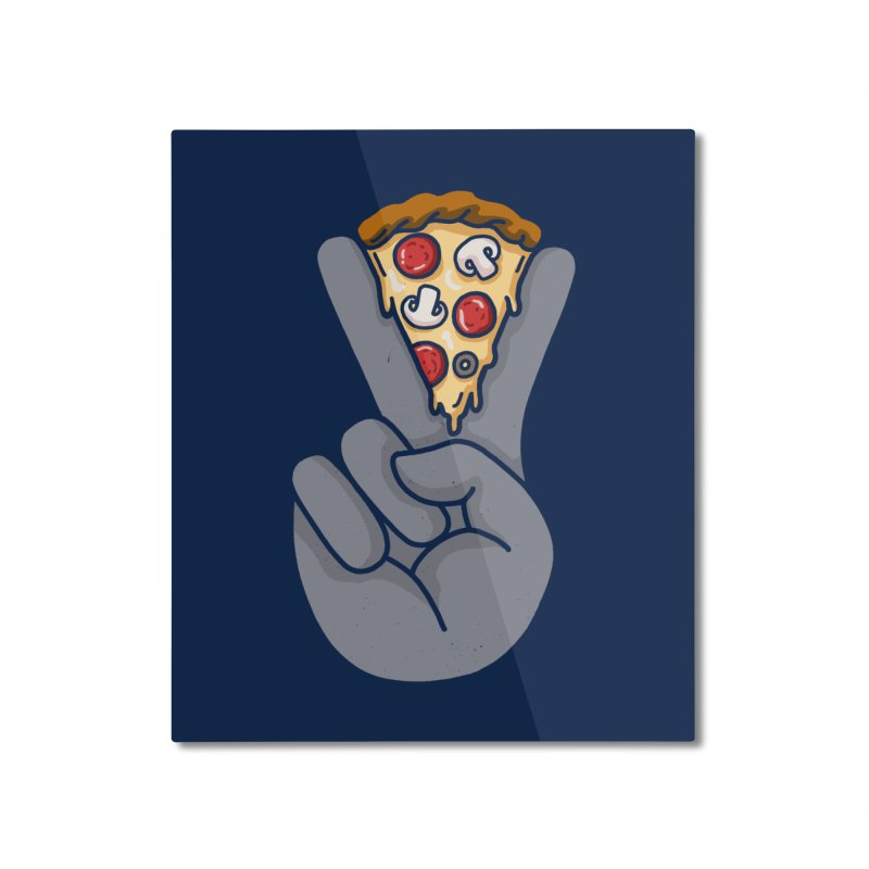 Peace & Pizza Home Mounted Aluminum Print by kooky love's Artist Shop