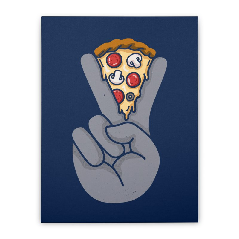 Peace & Pizza Home Stretched Canvas by kooky love's Artist Shop
