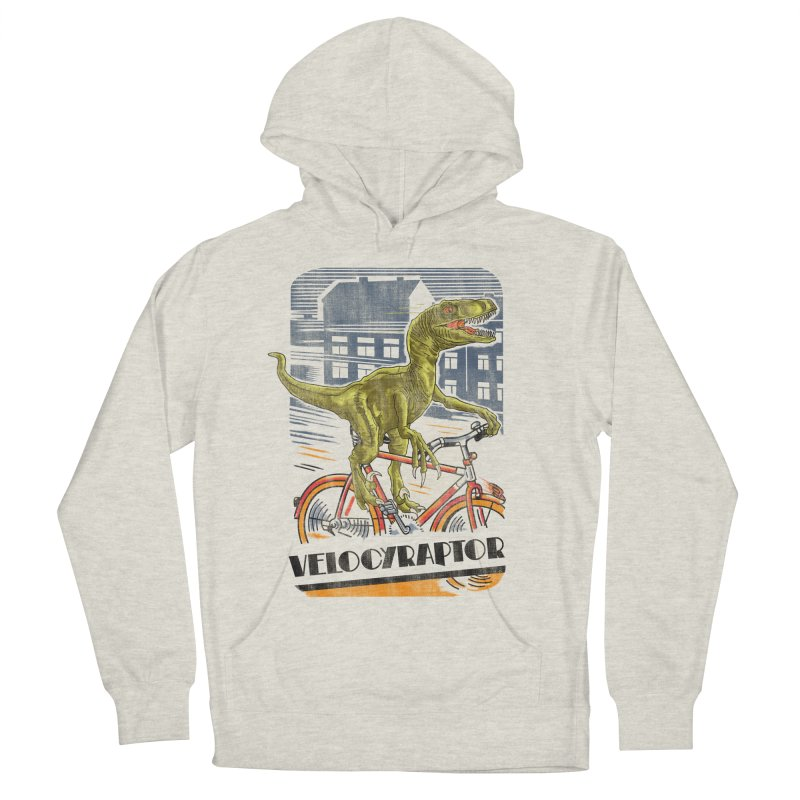Velocyraptor Men's French Terry Pullover Hoody by kooky love's Artist Shop