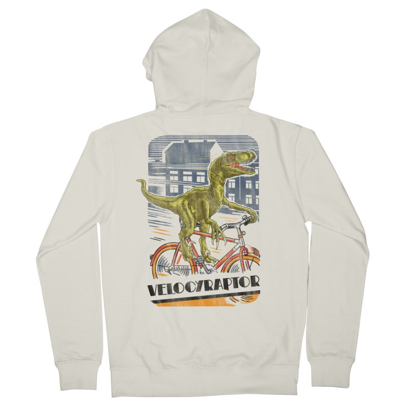 Velocyraptor Men's French Terry Zip-Up Hoody by kooky love's Artist Shop