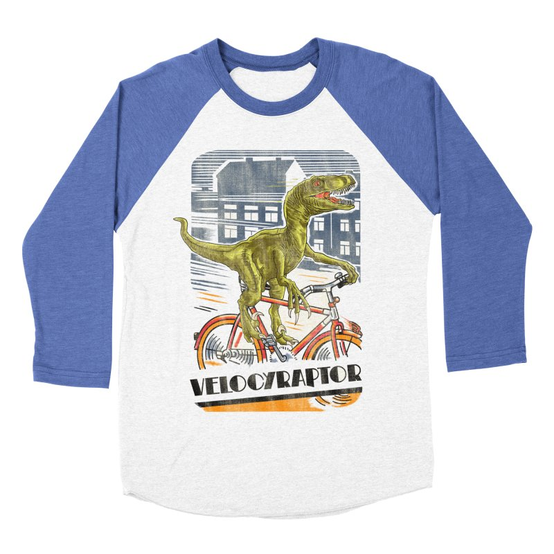Velocyraptor Women's Baseball Triblend Longsleeve T-Shirt by kooky love's Artist Shop