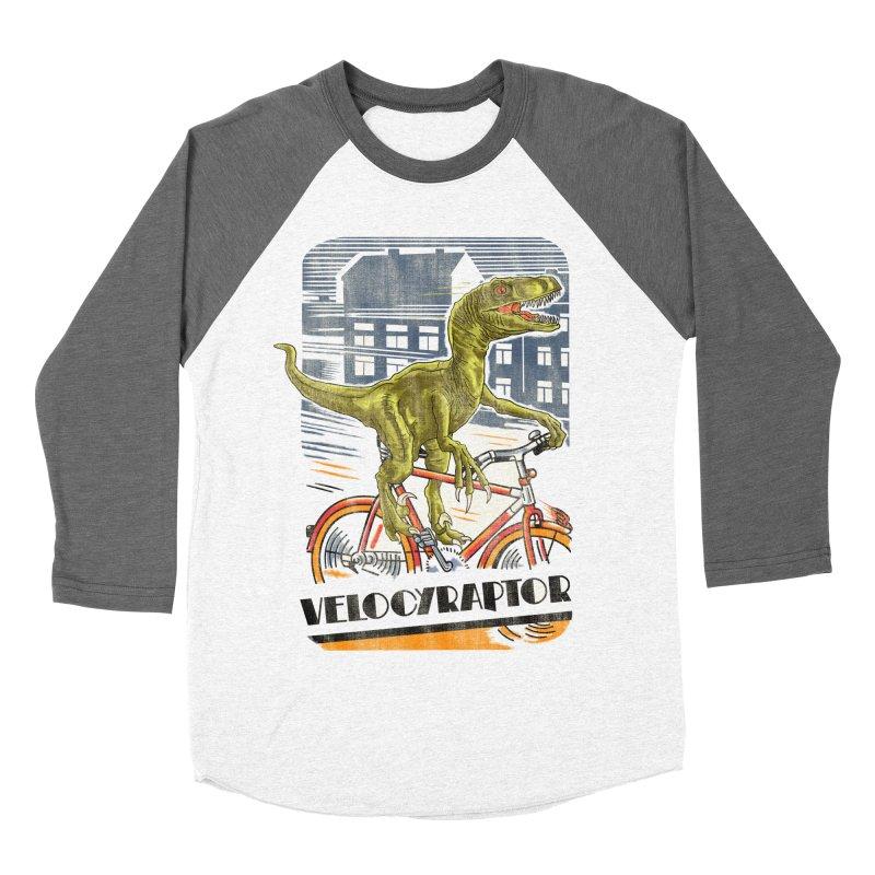 Velocyraptor Men's Baseball Triblend Longsleeve T-Shirt by kooky love's Artist Shop