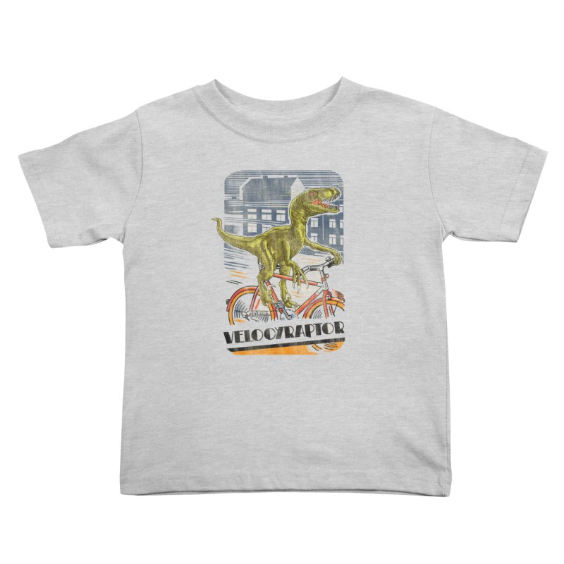 Velocyraptor Kids Toddler T-Shirt by kooky love's Artist Shop
