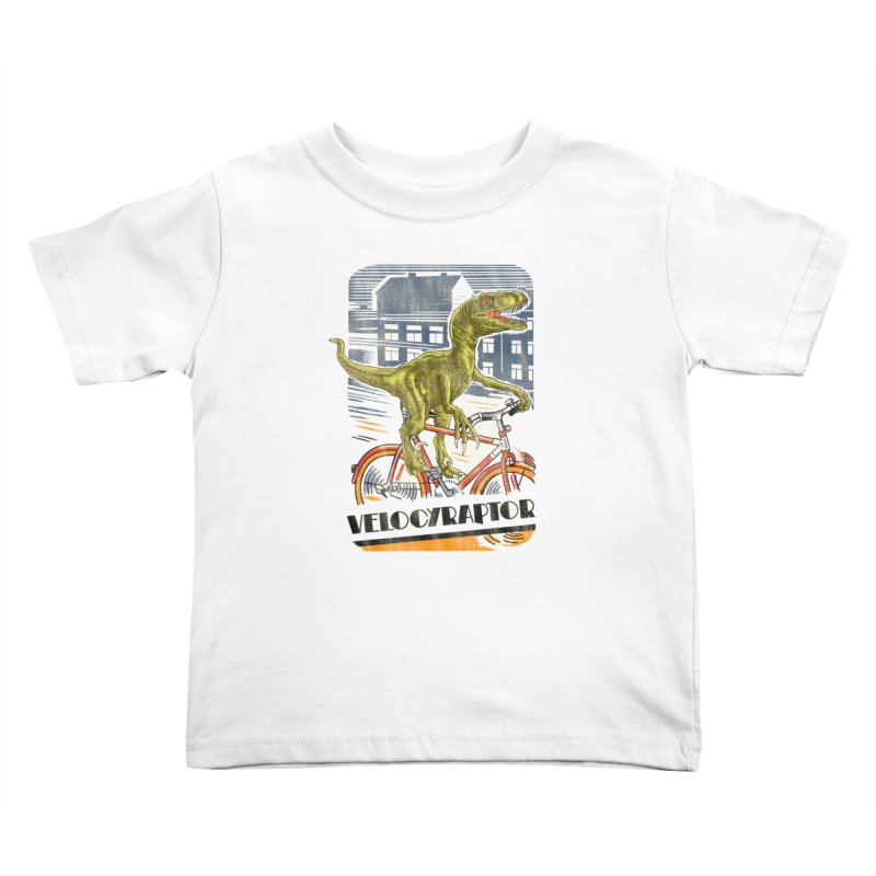 Velocyraptor Kids Toddler T-Shirt by kooky love's Artist Shop
