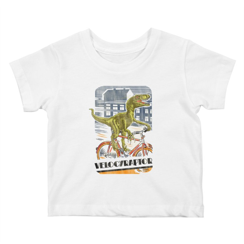 Velocyraptor Kids Baby T-Shirt by kooky love's Artist Shop