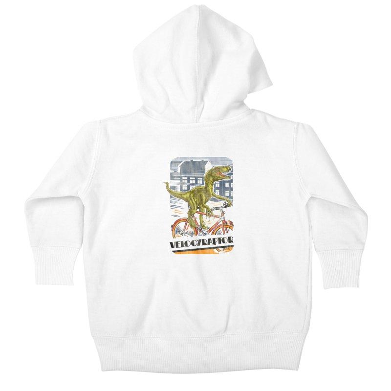 Velocyraptor Kids Baby Zip-Up Hoody by kooky love's Artist Shop