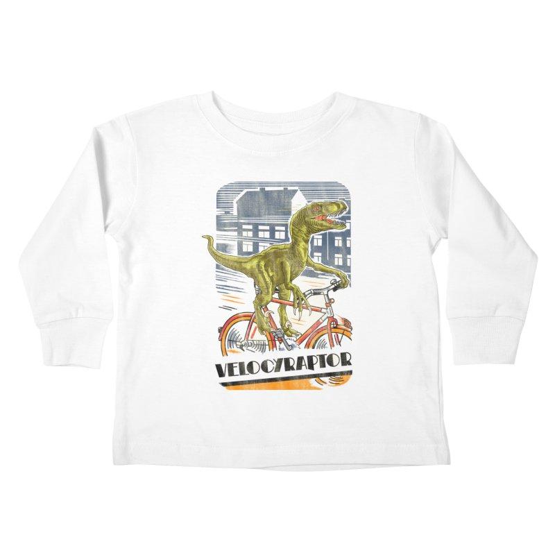 Velocyraptor Kids Toddler Longsleeve T-Shirt by kooky love's Artist Shop