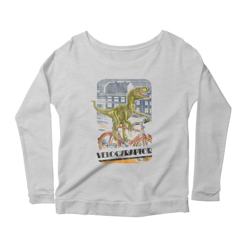 Velocyraptor Women's Scoop Neck Longsleeve T-Shirt by kooky love's Artist Shop