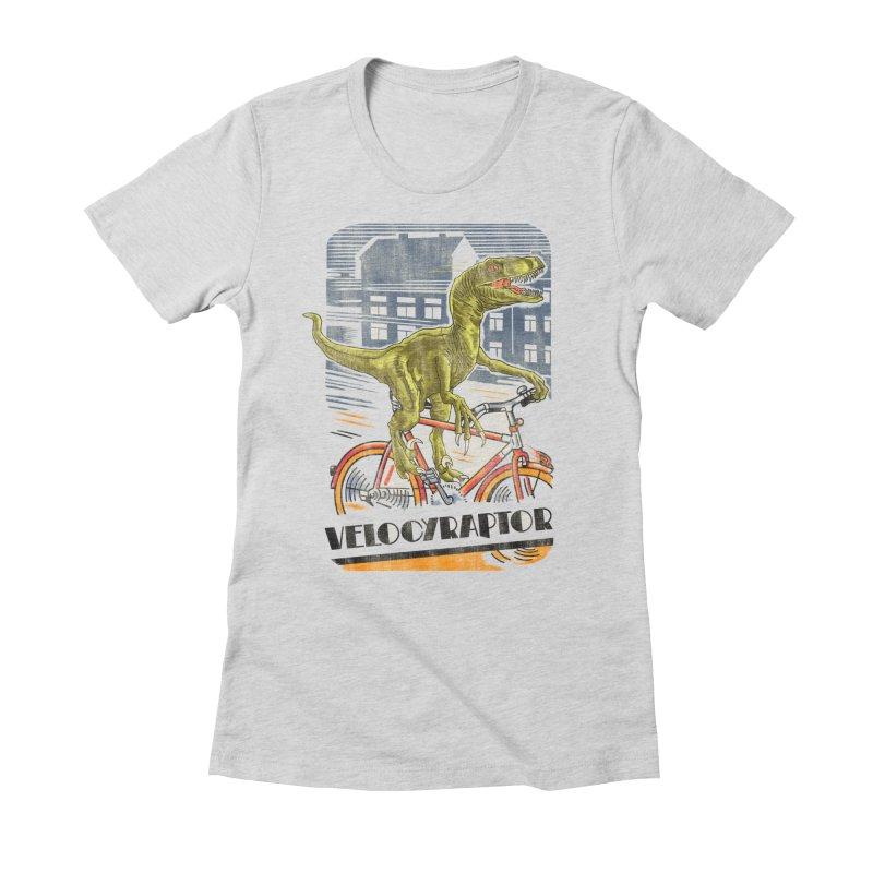 Velocyraptor Women's Fitted T-Shirt by kooky love's Artist Shop