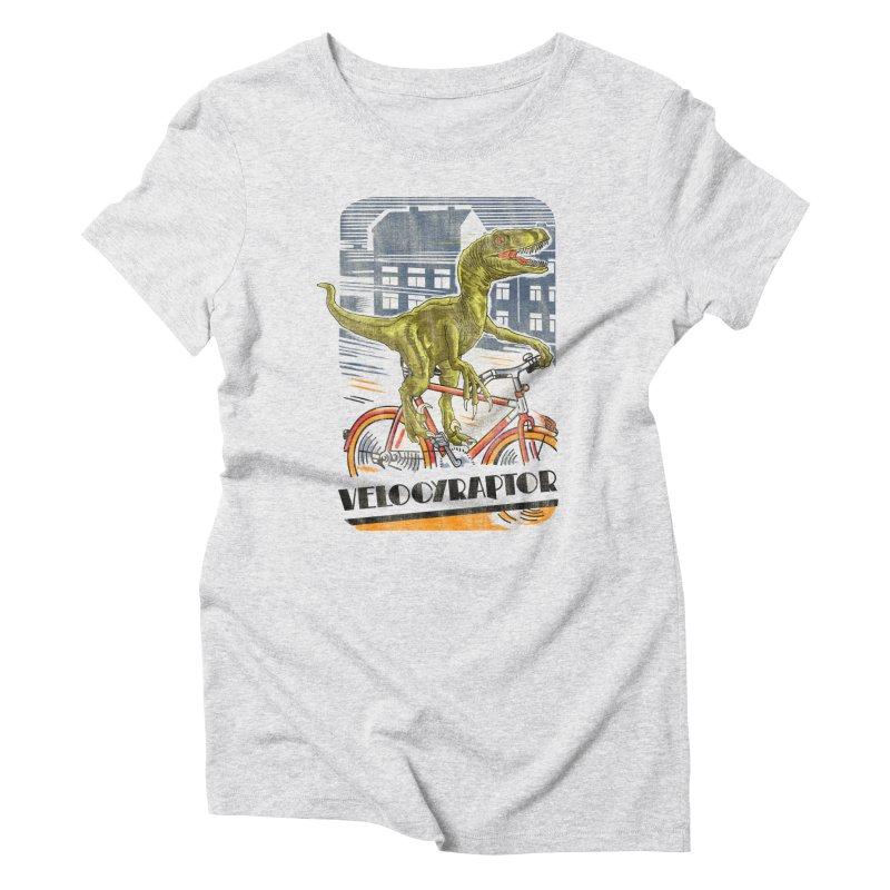 Velocyraptor Women's Triblend T-Shirt by kooky love's Artist Shop