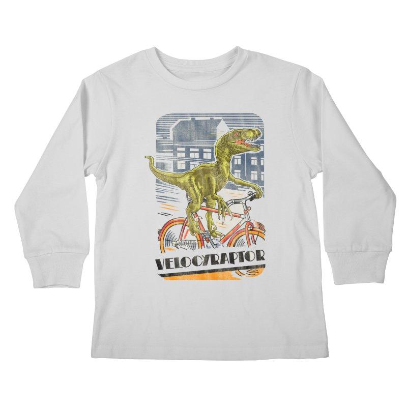 Velocyraptor Kids Longsleeve T-Shirt by kooky love's Artist Shop