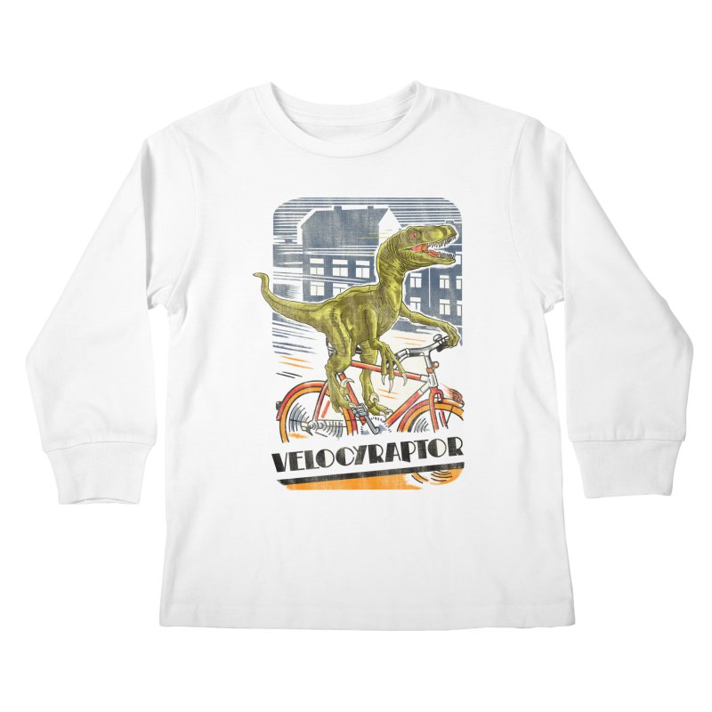 Velocyraptor Kids Longsleeve T-Shirt by kooky love's Artist Shop