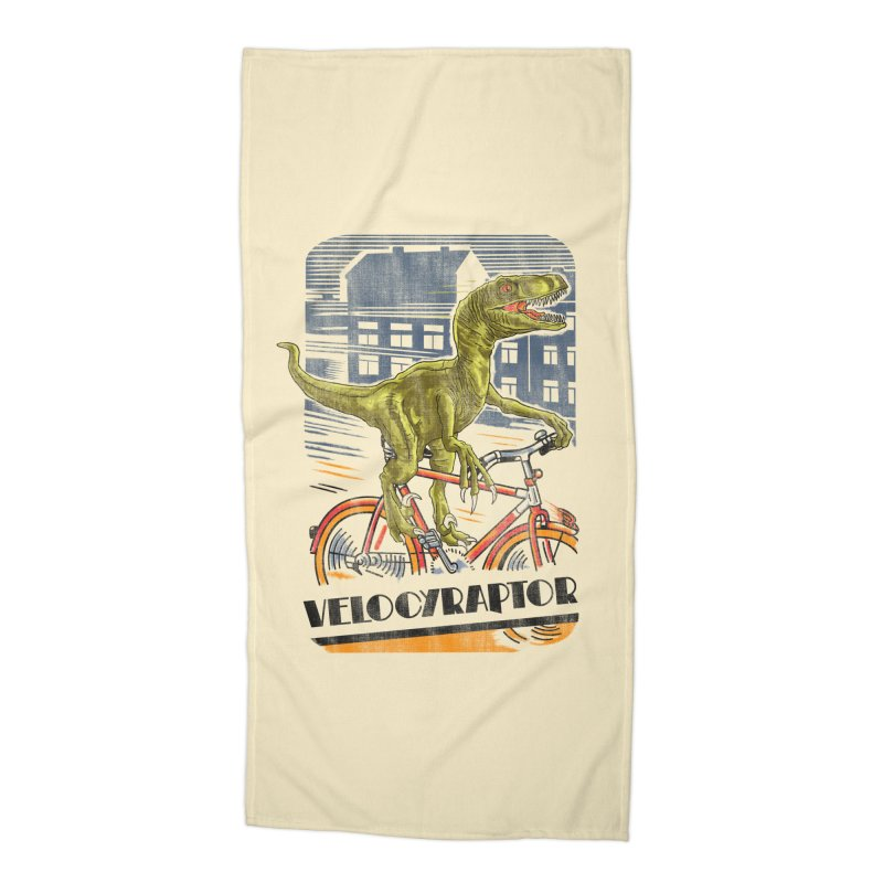 Velocyraptor Accessories Beach Towel by kooky love's Artist Shop