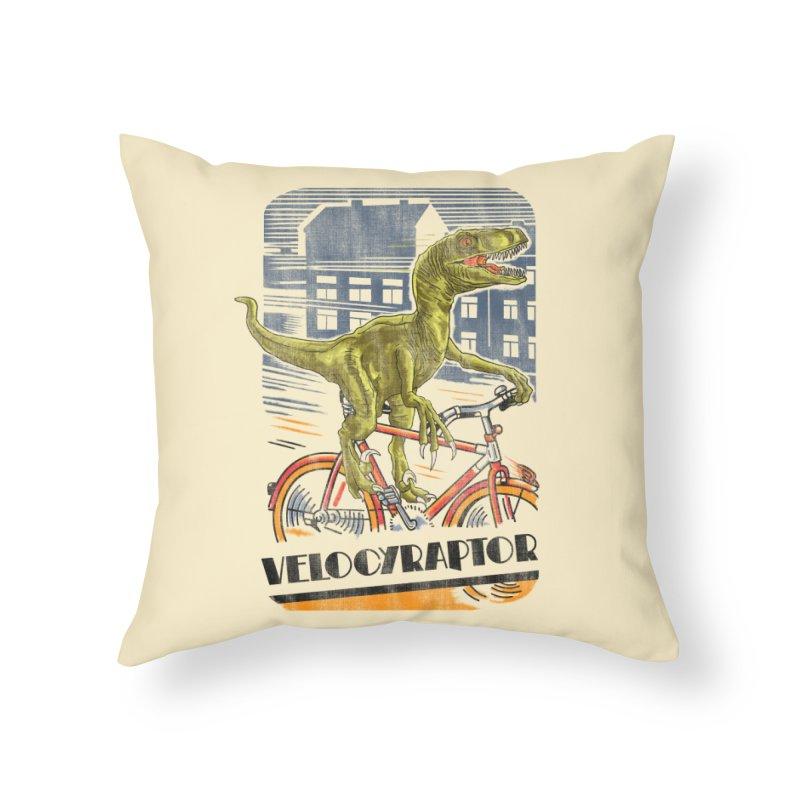Velocyraptor Home Throw Pillow by kooky love's Artist Shop