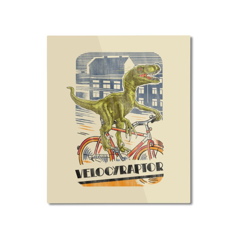 Velocyraptor Home Mounted Aluminum Print by kooky love's Artist Shop