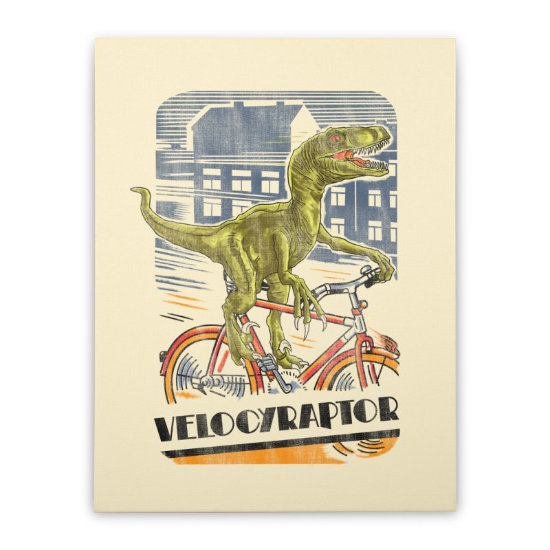Velocyraptor Home Stretched Canvas by kooky love's Artist Shop