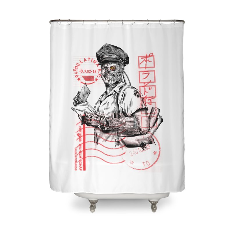 Disrupt Home Shower Curtain by kooky love's Artist Shop