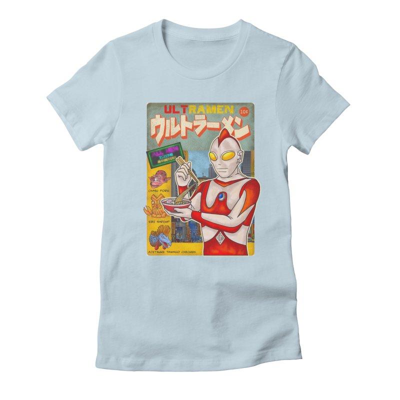 ULTRAMEN Women's Fitted T-Shirt by kooky love's Artist Shop