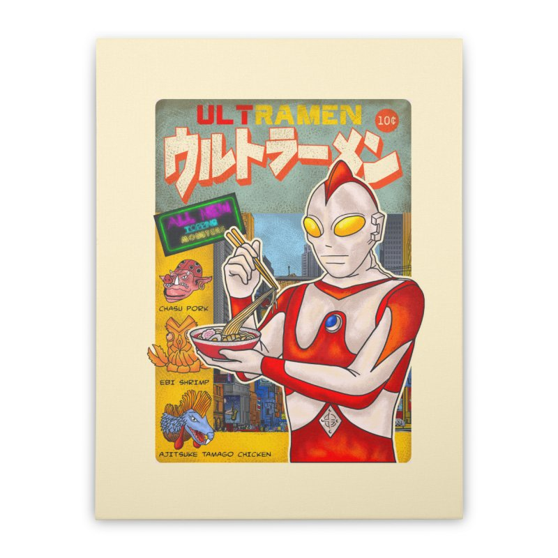 ULTRAMEN Home Stretched Canvas by kooky love's Artist Shop